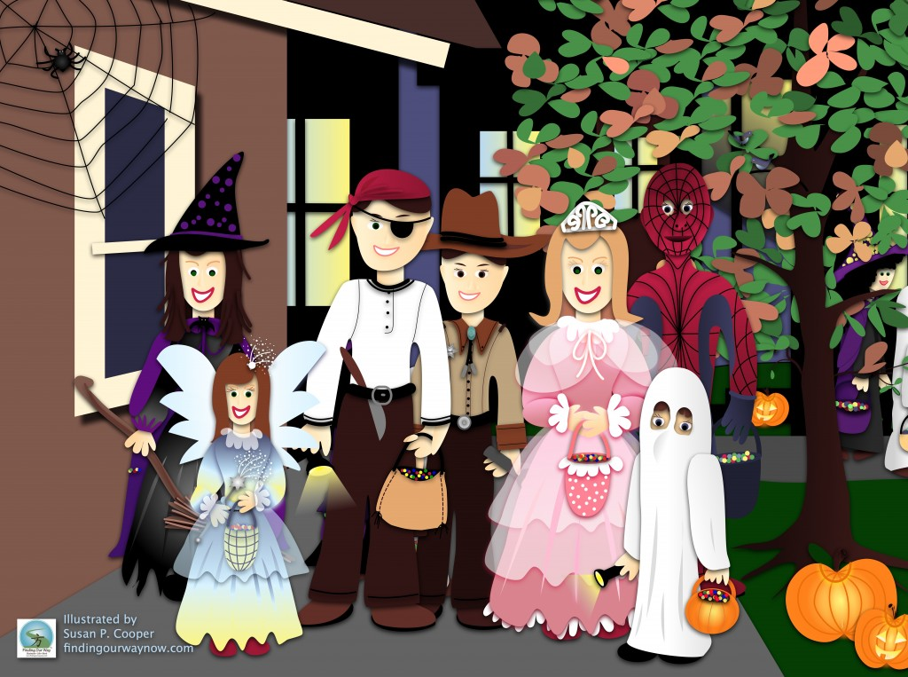 Trick Or Treaters, findingourwaynow.com