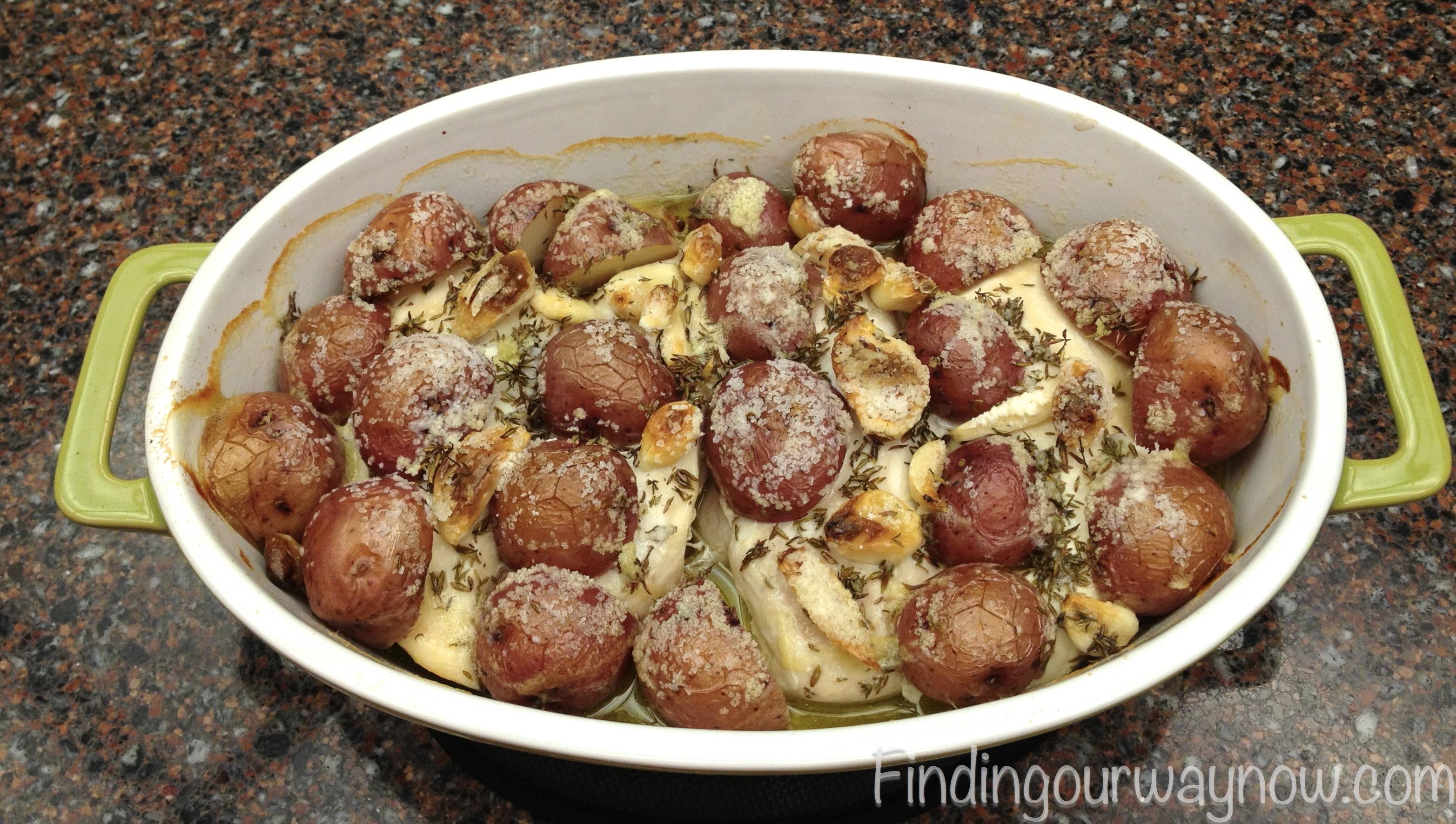 Roasted Chicken Breast with Garlic Redskin Potatoes, findingourwaynow ...