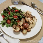 Roasted Chicken Breast with Garlic Redskin Potatoes, findingourwaynow.com