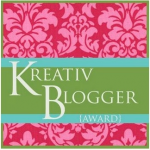 """A Blogger's Favorite Quote: Krystle Cook & My """"Kreativ Blogger"""" Award!!!"""