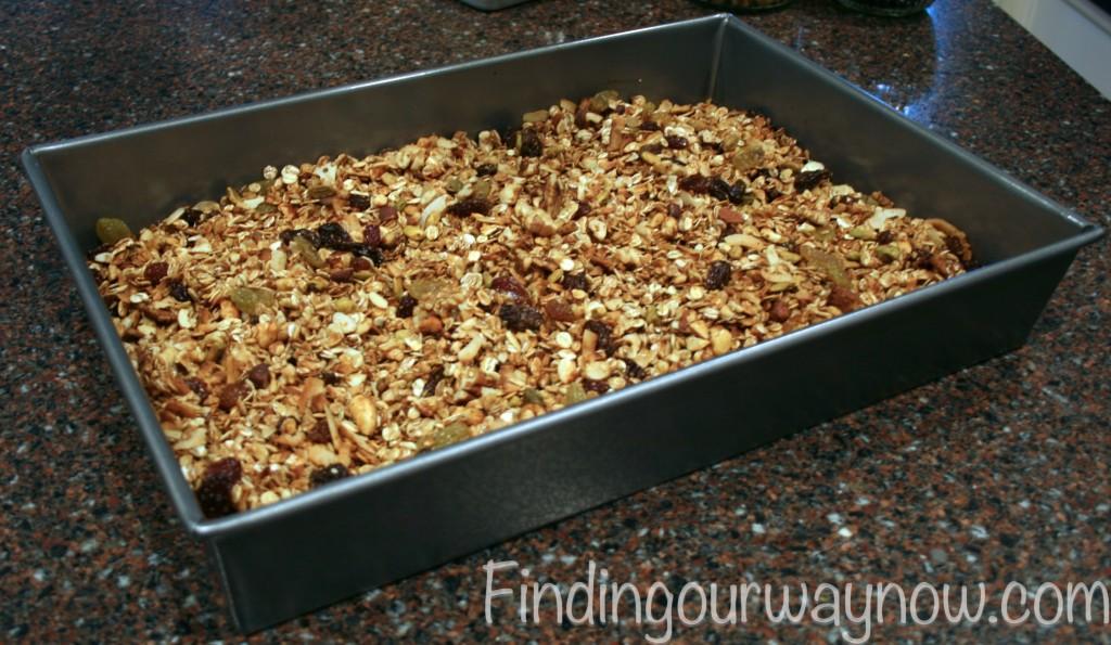 Granola Recipe, findingourwaynow.com