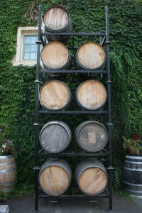 Wine Tasting Room Barrels, findingourwaynow.com