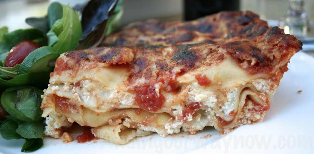 Three Cheese Lasagna, findingourwaynow.com