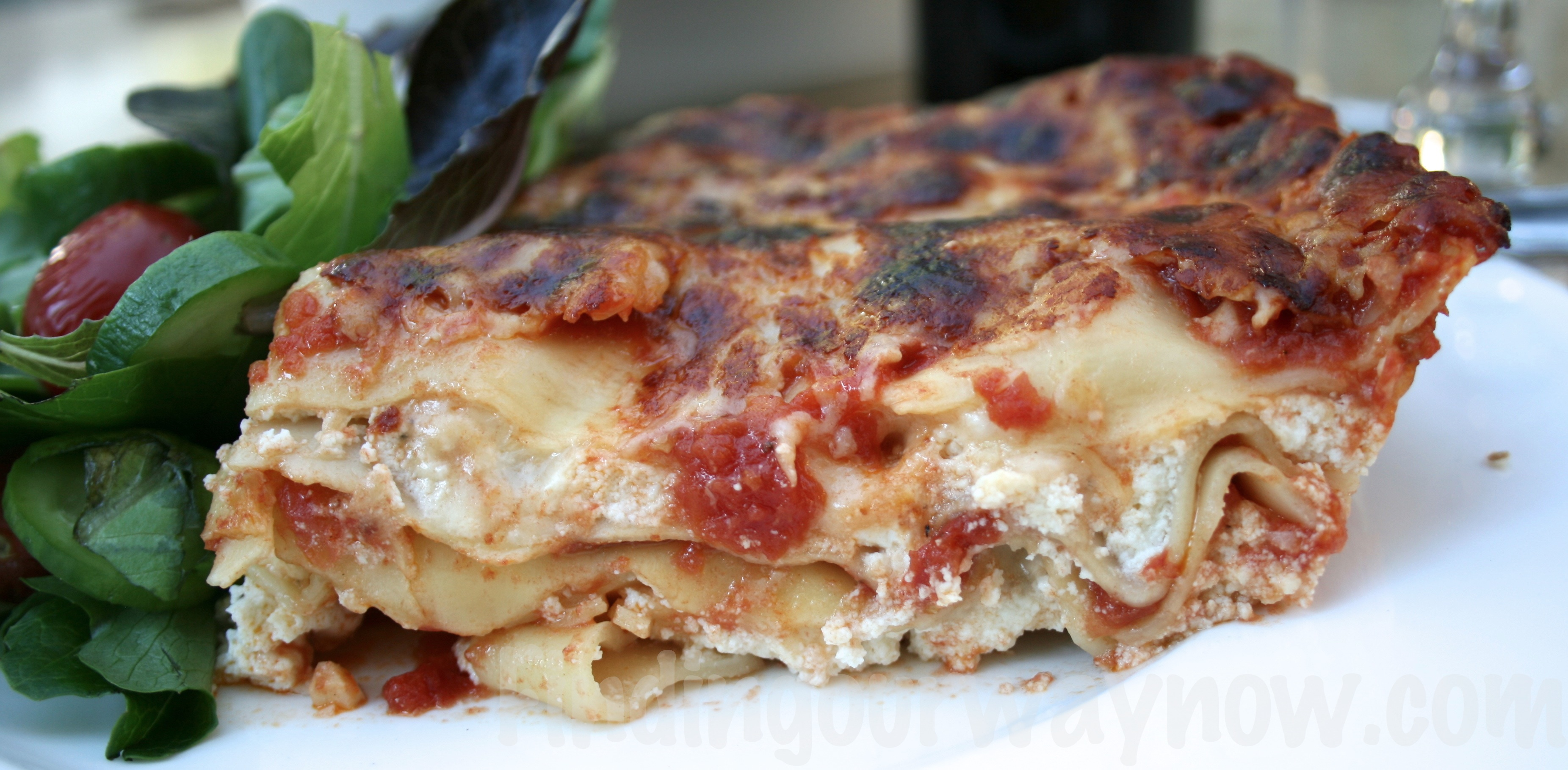 Three Cheese LasagnaRecipeFinding Our Way Now