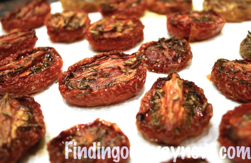 Oven Roasted Dried Tomatoes, findingourwaynow.com