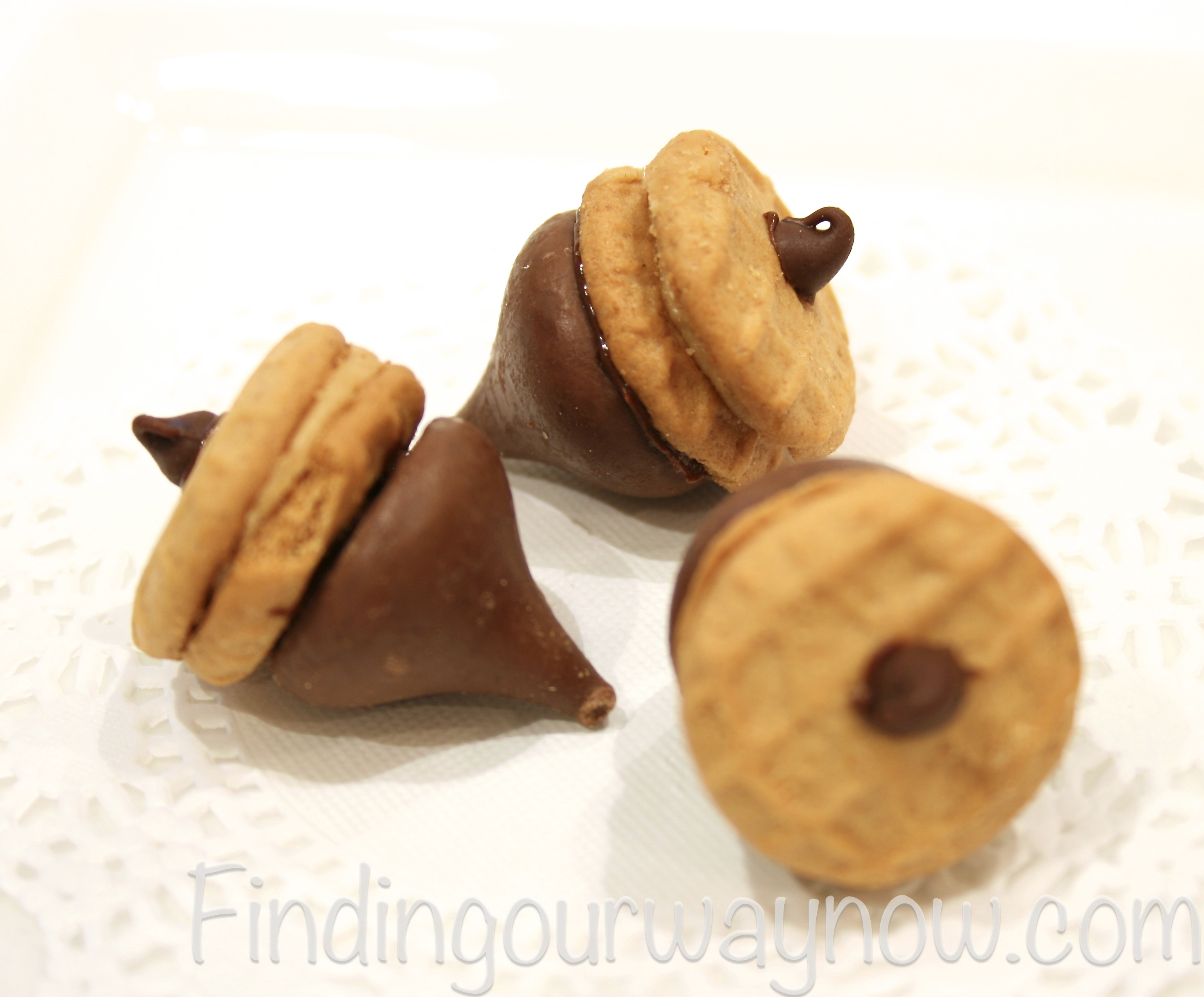Chocolate Peanut Butter Acorns Treats: Recipe - Finding Our Way Now