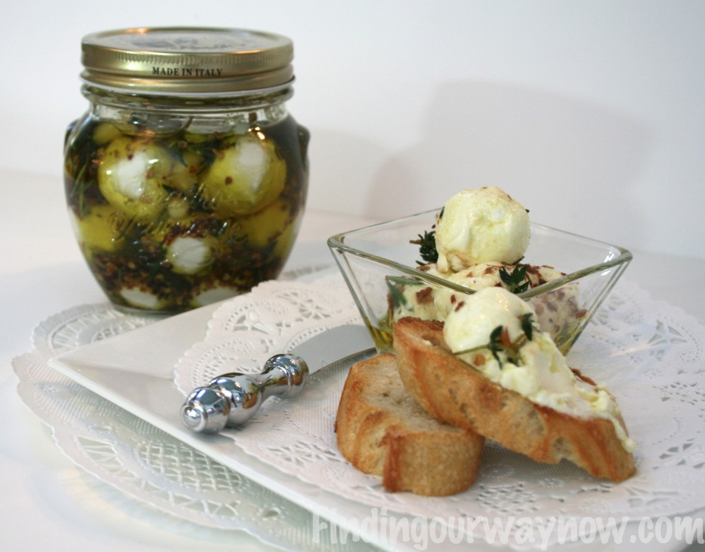 Marinated Goat Cheese Balls, findingourwaynow.com