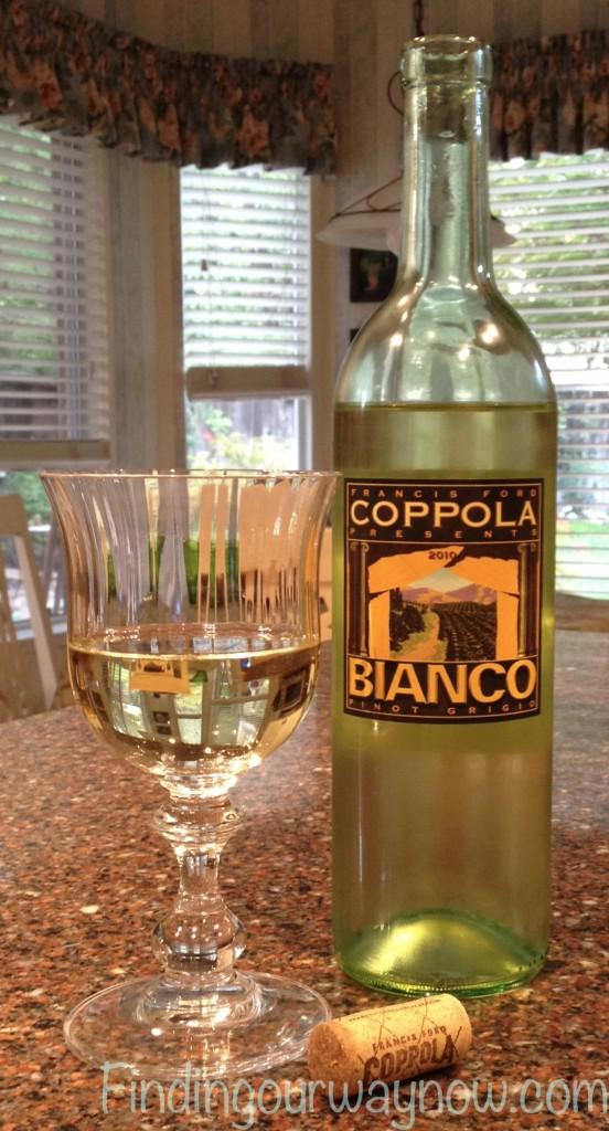 Coppola Bianco Pinot Grigio, findingourwaynow.com