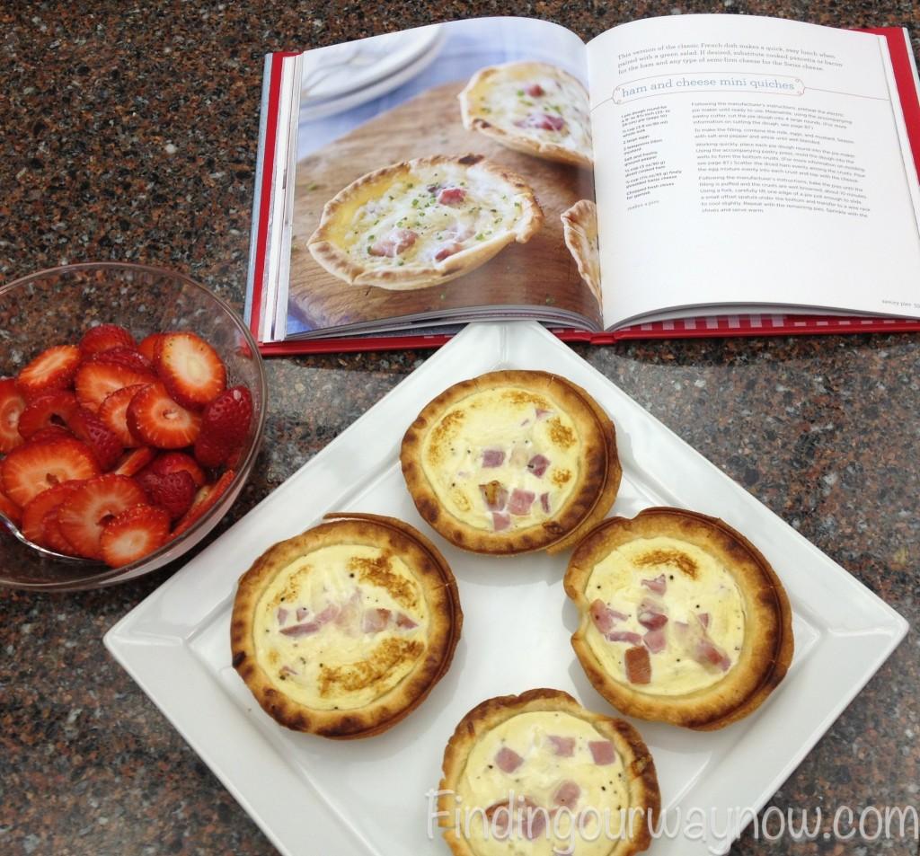 Ham and Cheese Mini Quiches, findingourwaynow.com