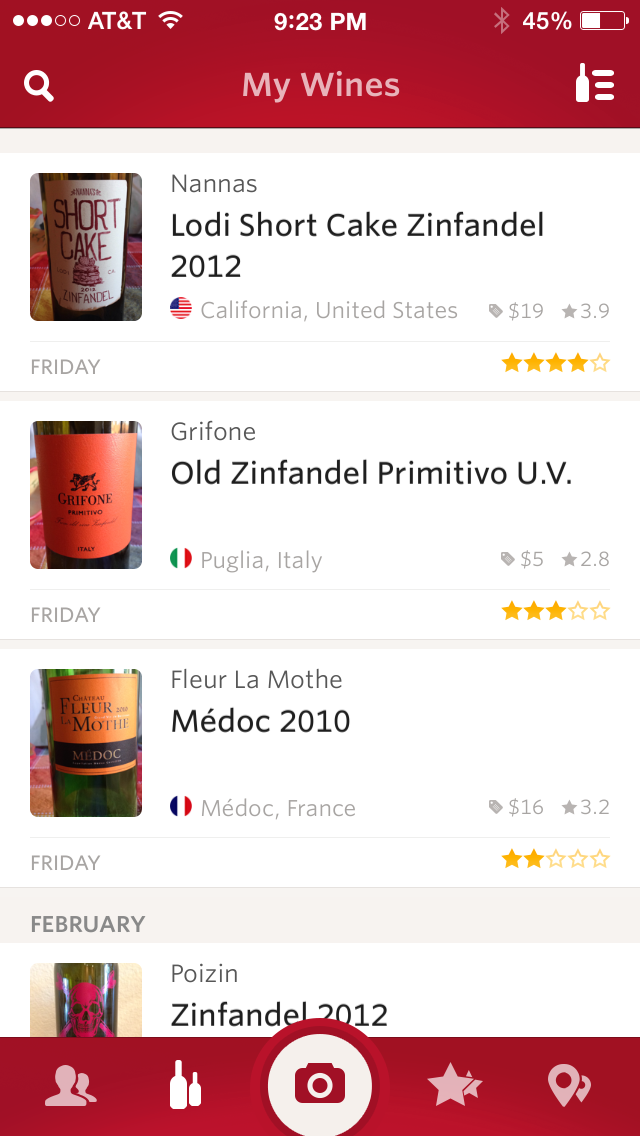 Image of Vivino Wine List