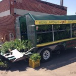 Picture of farmers market flower trailer.
