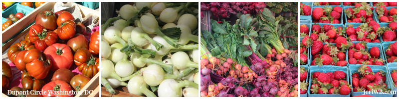 Picture of farmers market produce collage.