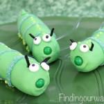 Marshmallow Caterpillars, findingourwaynow.com