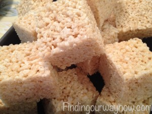 Rice Crispy Treats, findingourwaynow.com