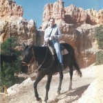 Image of Jeri Walker-Bickett on horse in Bryce Canyon.