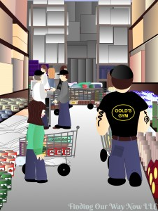 Grocery Store Aisle Hogs, findingourwaynow.com
