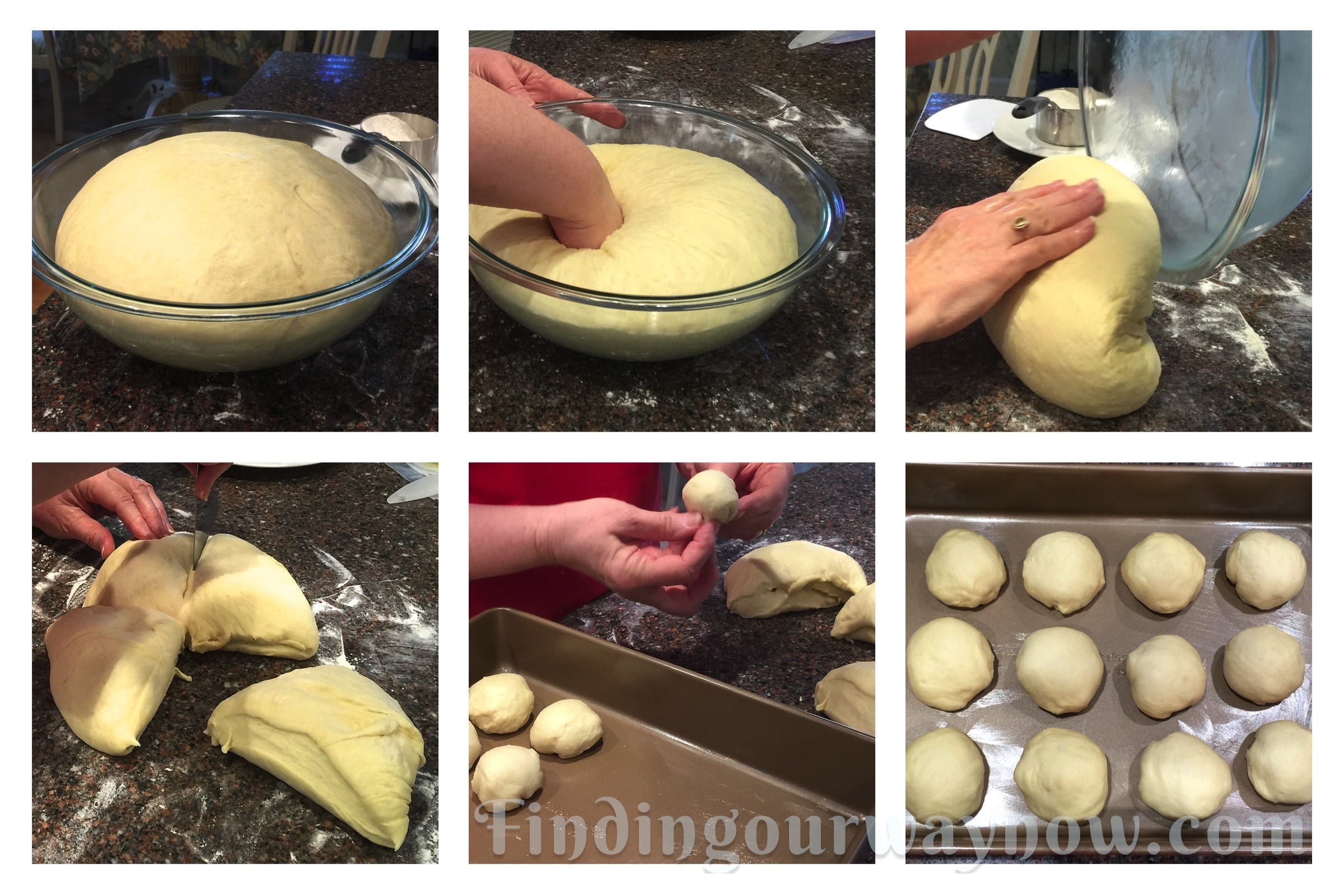 Old fashioned yeast rolls making rolls jpg
