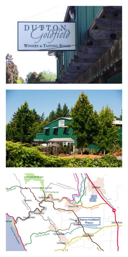 Dutton-Goldfield Winery Location, findingourwaynow.com