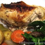 Flattened Roasted Chicken With Herbs, findingourwaynow.com