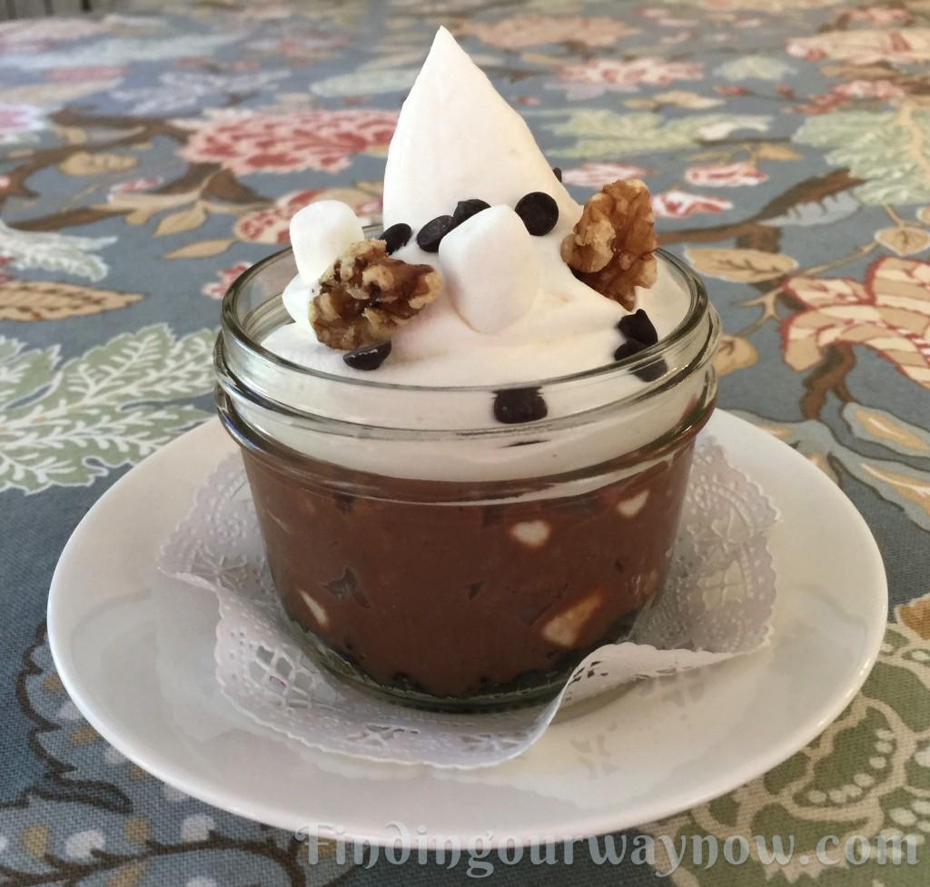 Chocolate Pie In A Jar, findingourwaynow.com