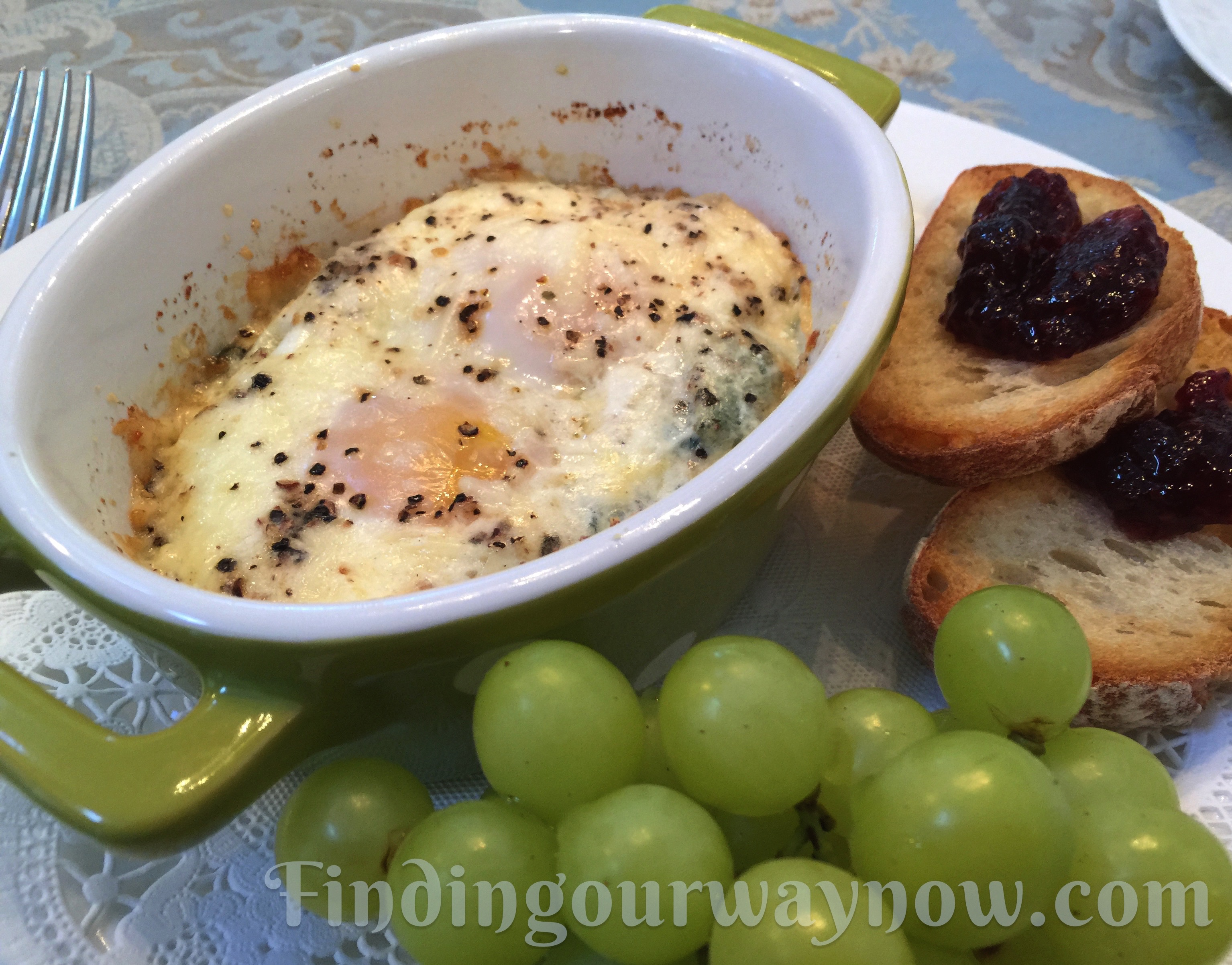 Shirred Eggs with Spinach and Parmesan Cheese: #Recipe - Finding ...