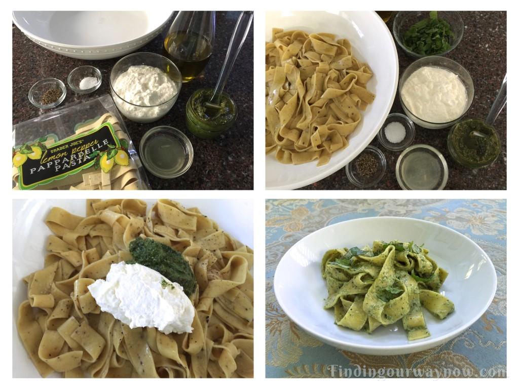Ricotta Pesto Lemon Pappardelle, findingourwaynow.com