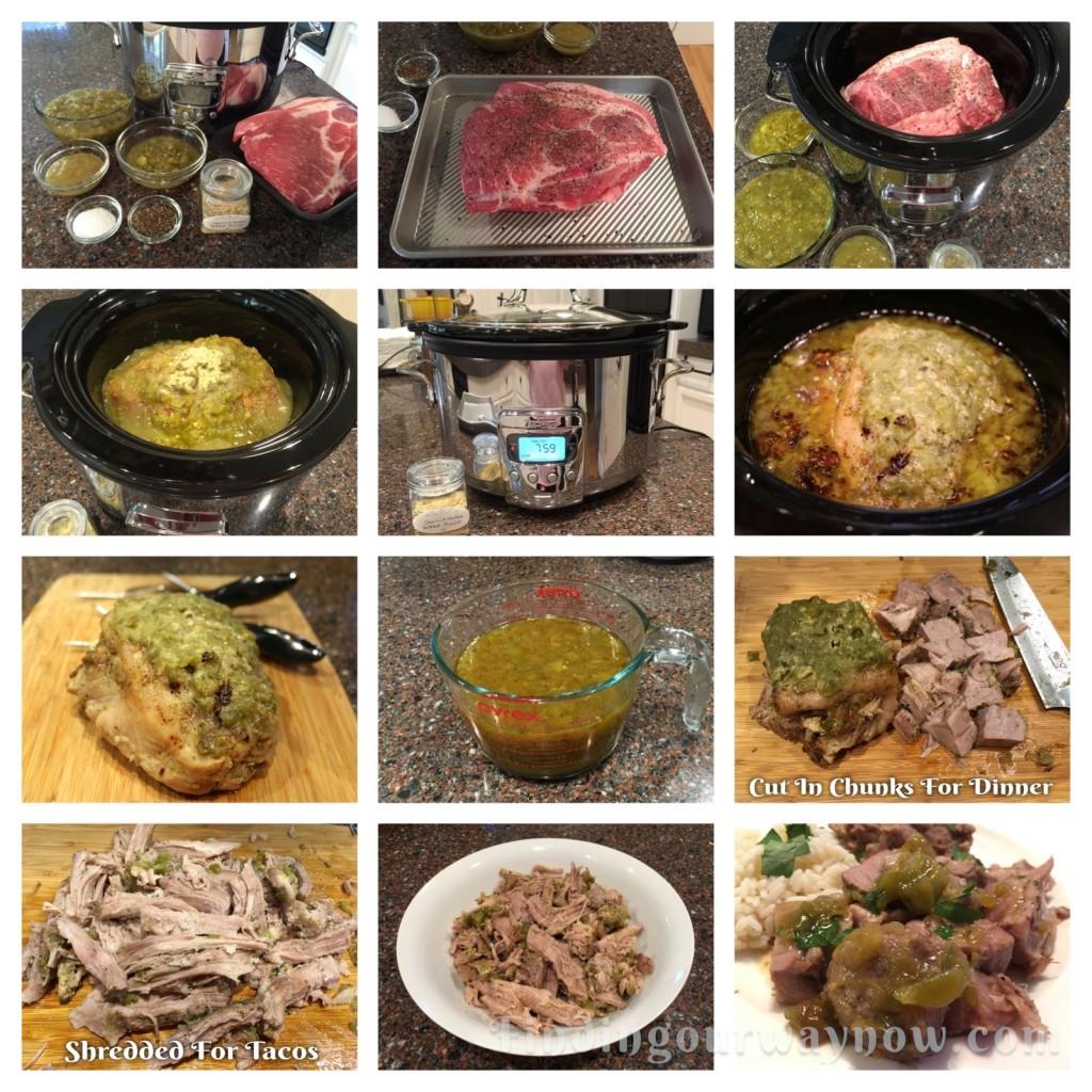Crockpot Salsa Verde Pork Roast, findingourwaynow.com