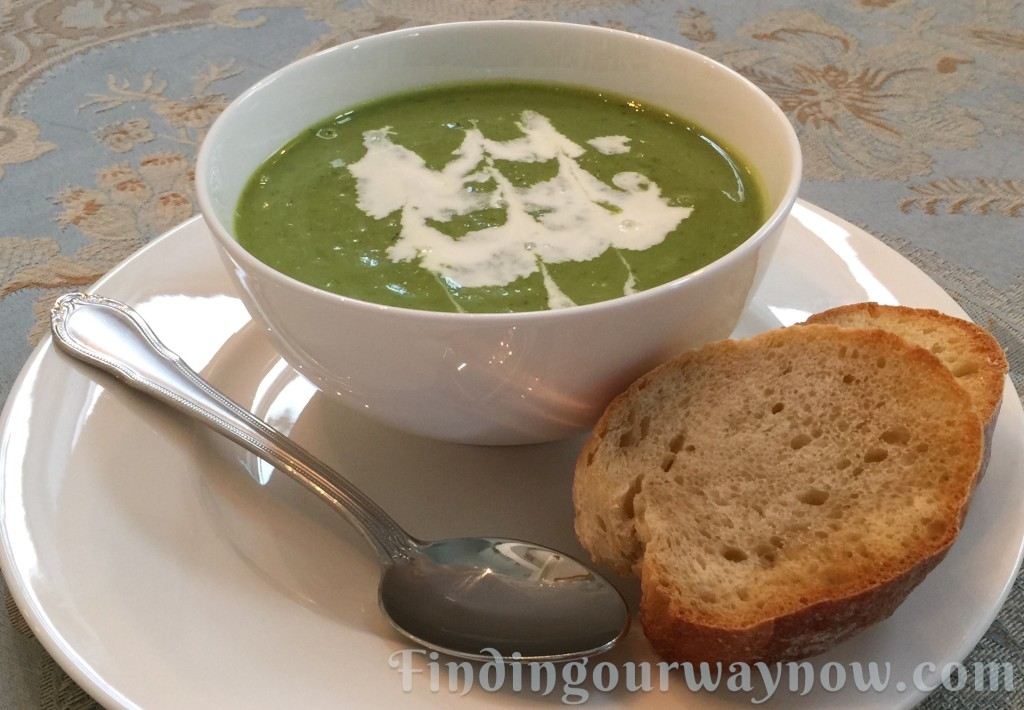 Pea Soup With Herbs, findingourwaynow.com