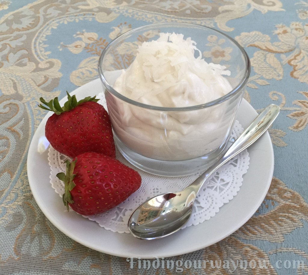 Simple Coconut Mousse, findingourwaynow.com