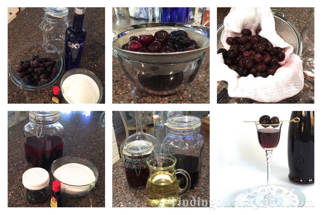 Homemade Cherry Liqueur, findingourwaynow.com