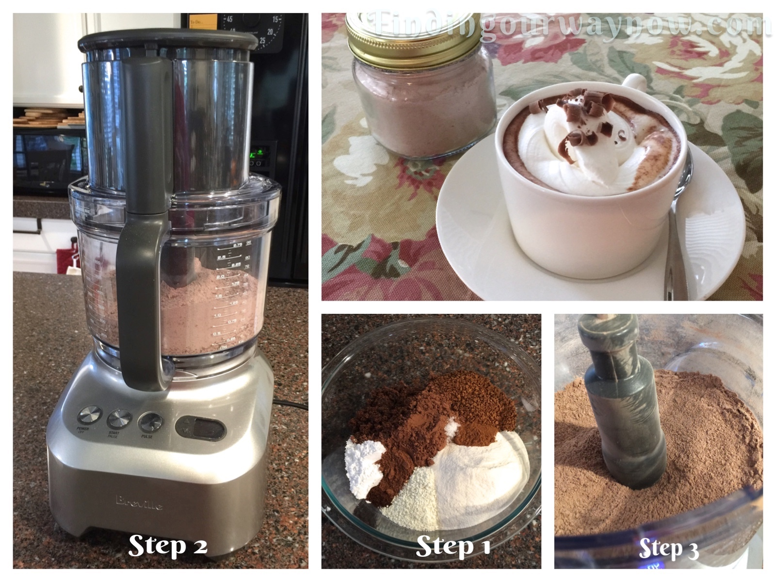 Homemade Spiced Cafe Mocha Mix Collage