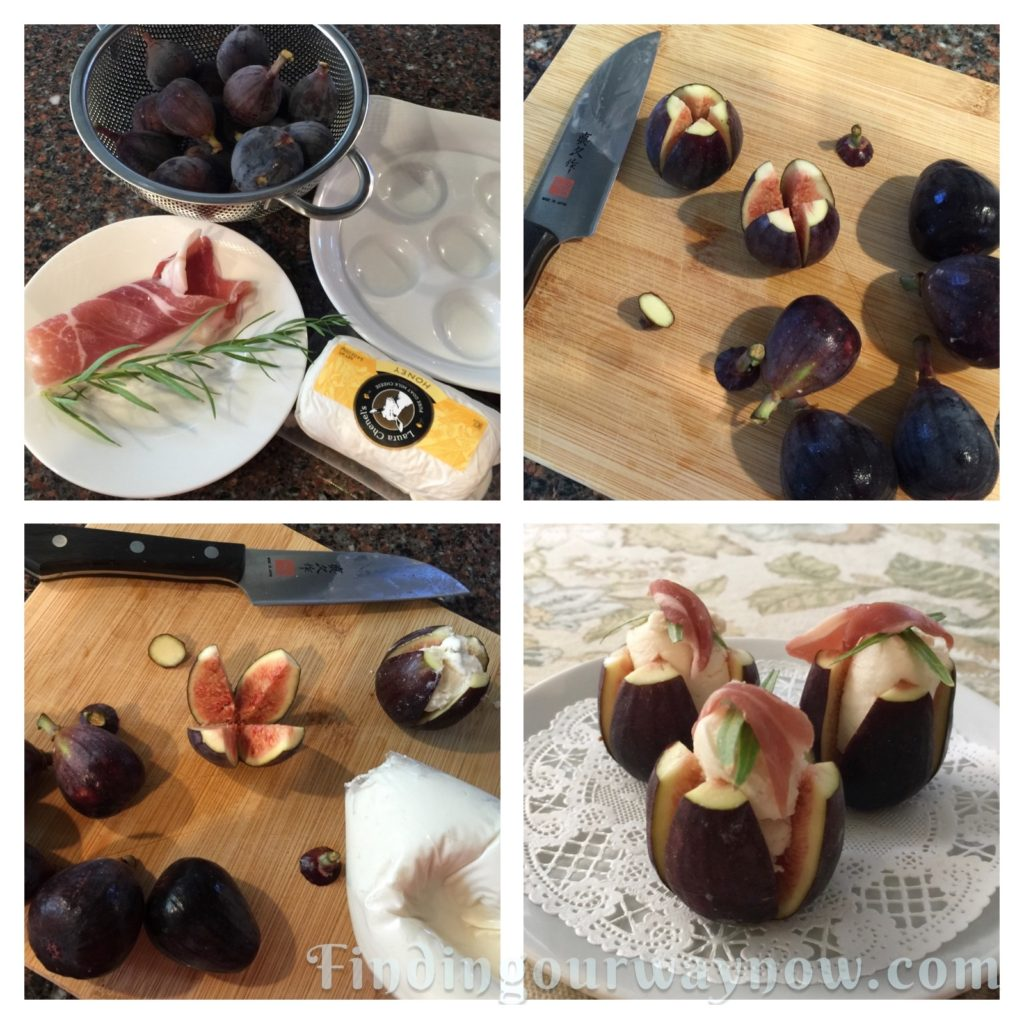 Goat Cheese Stuffed Figs, findingourwaynow.com