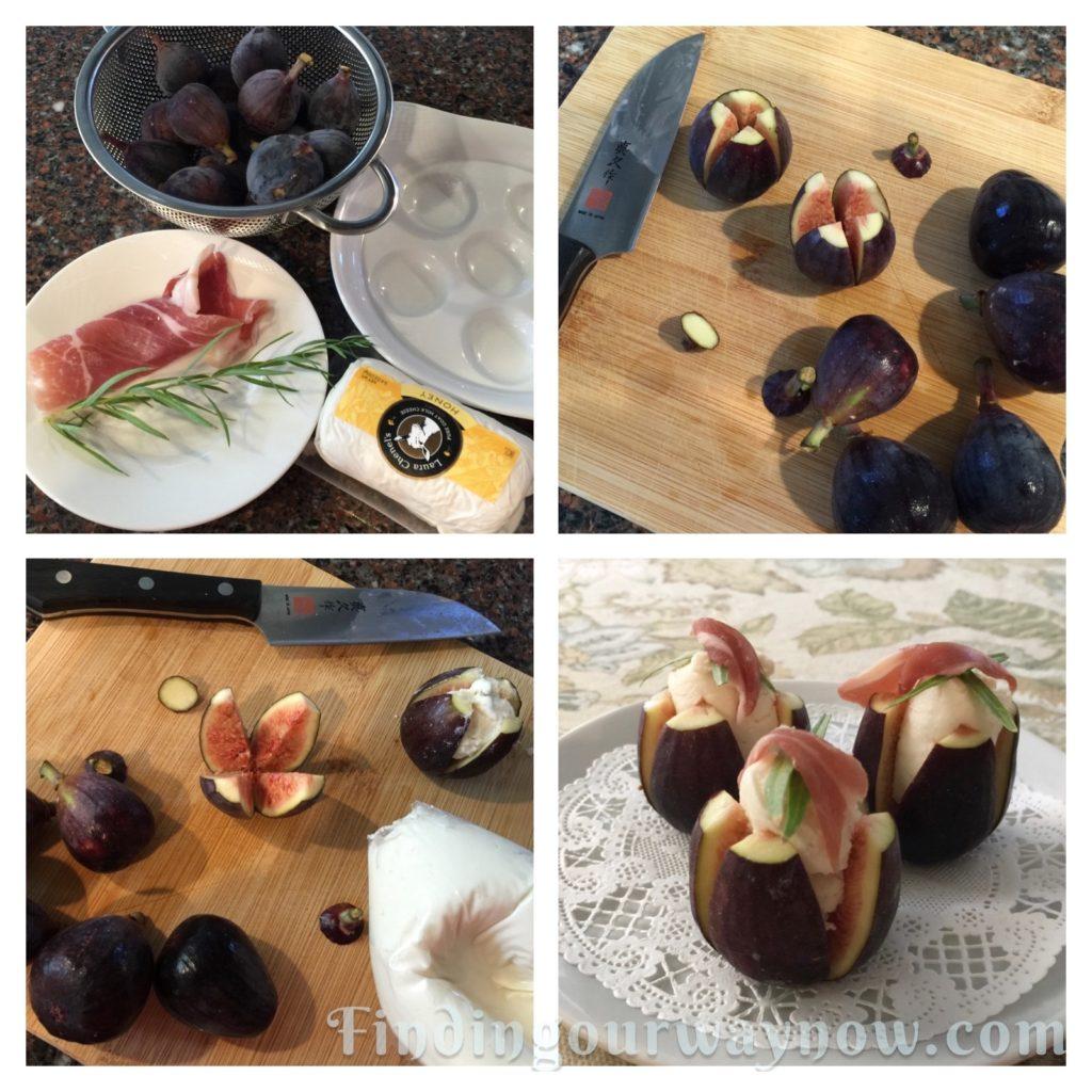 Goat Cheese Stuffed Figs, findingourwaynow.com