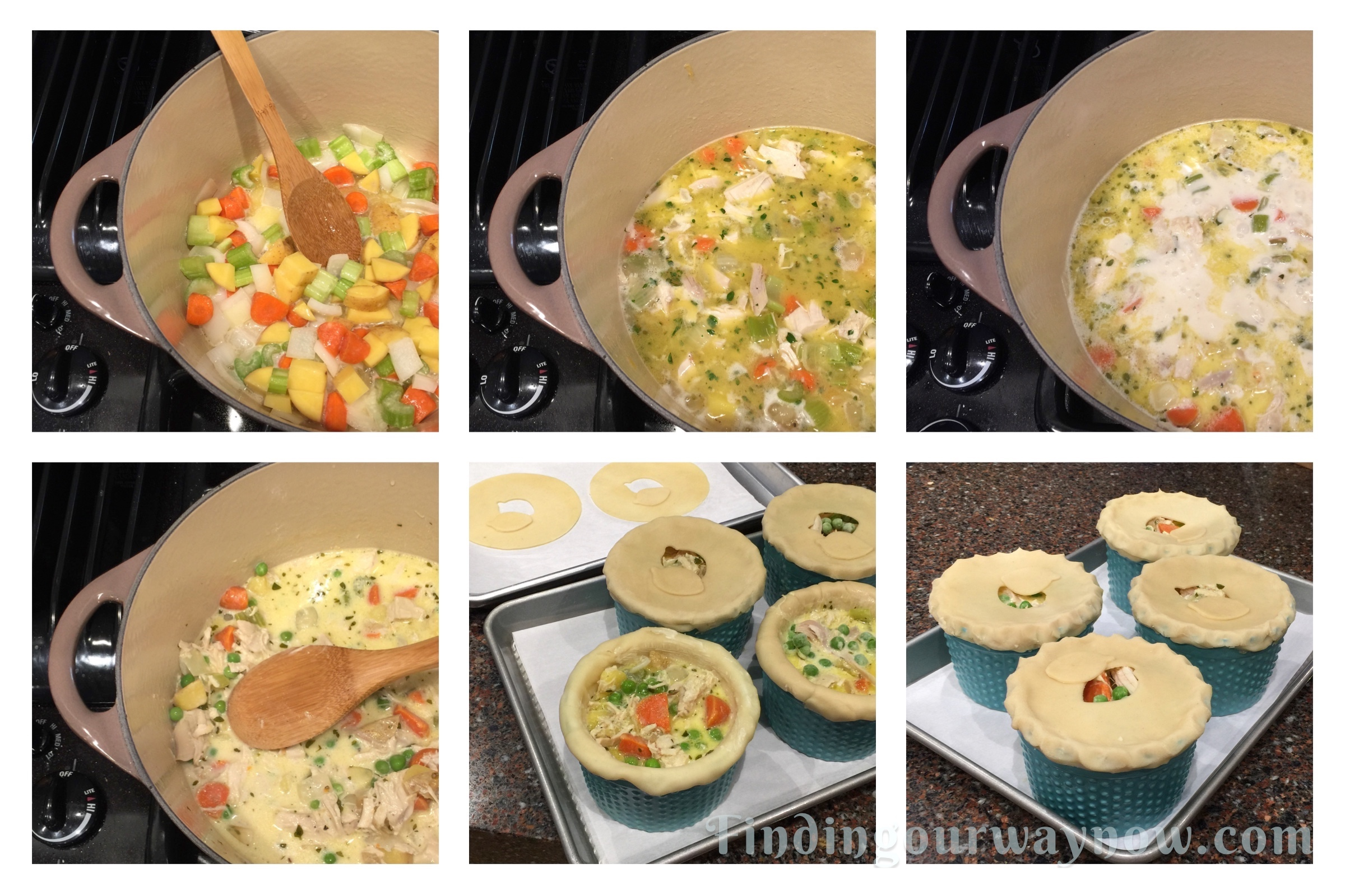 Individual Chicken Pot Pies, findingourwaynow.com