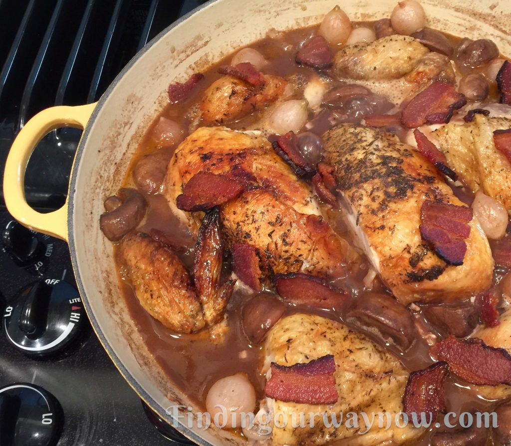 Coq au Vin Made Easy, findingourwaynow.com
