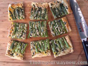 Fresh Asparagus Tart, findingourwaynow.com