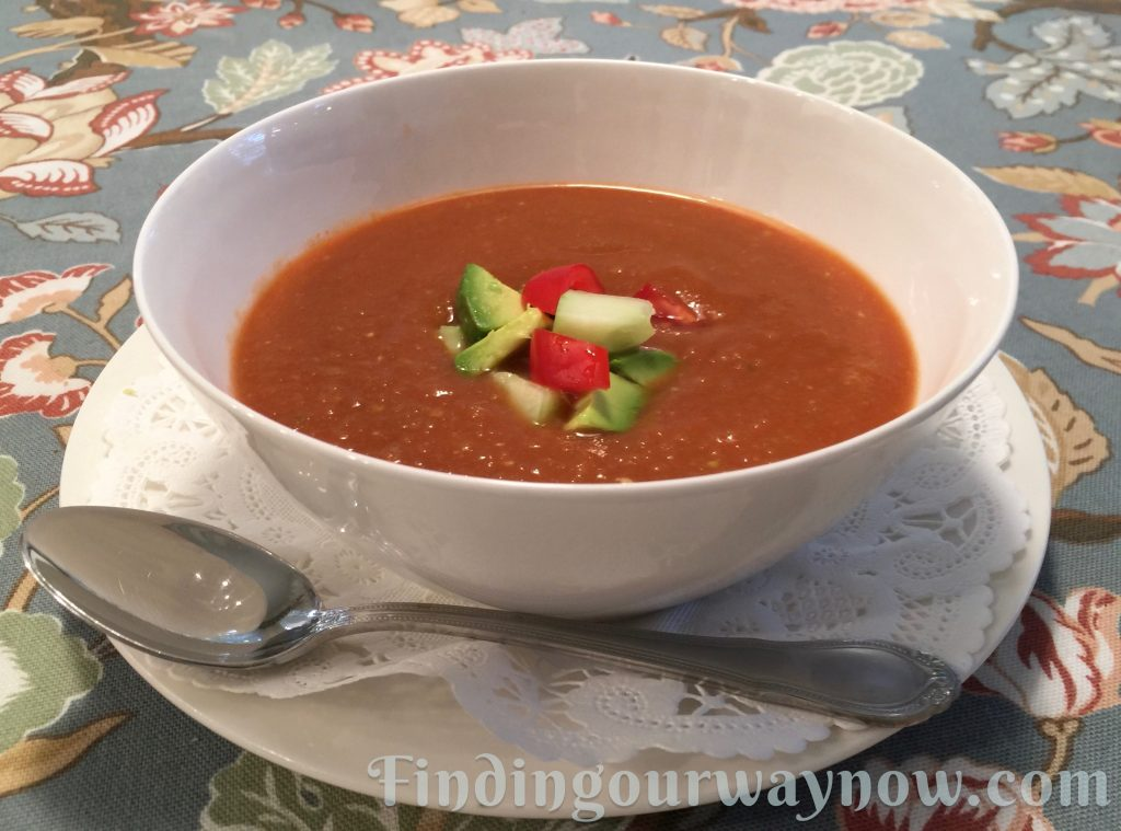 Rod's Easy Gazpacho Recipe, findingourwaynow.com