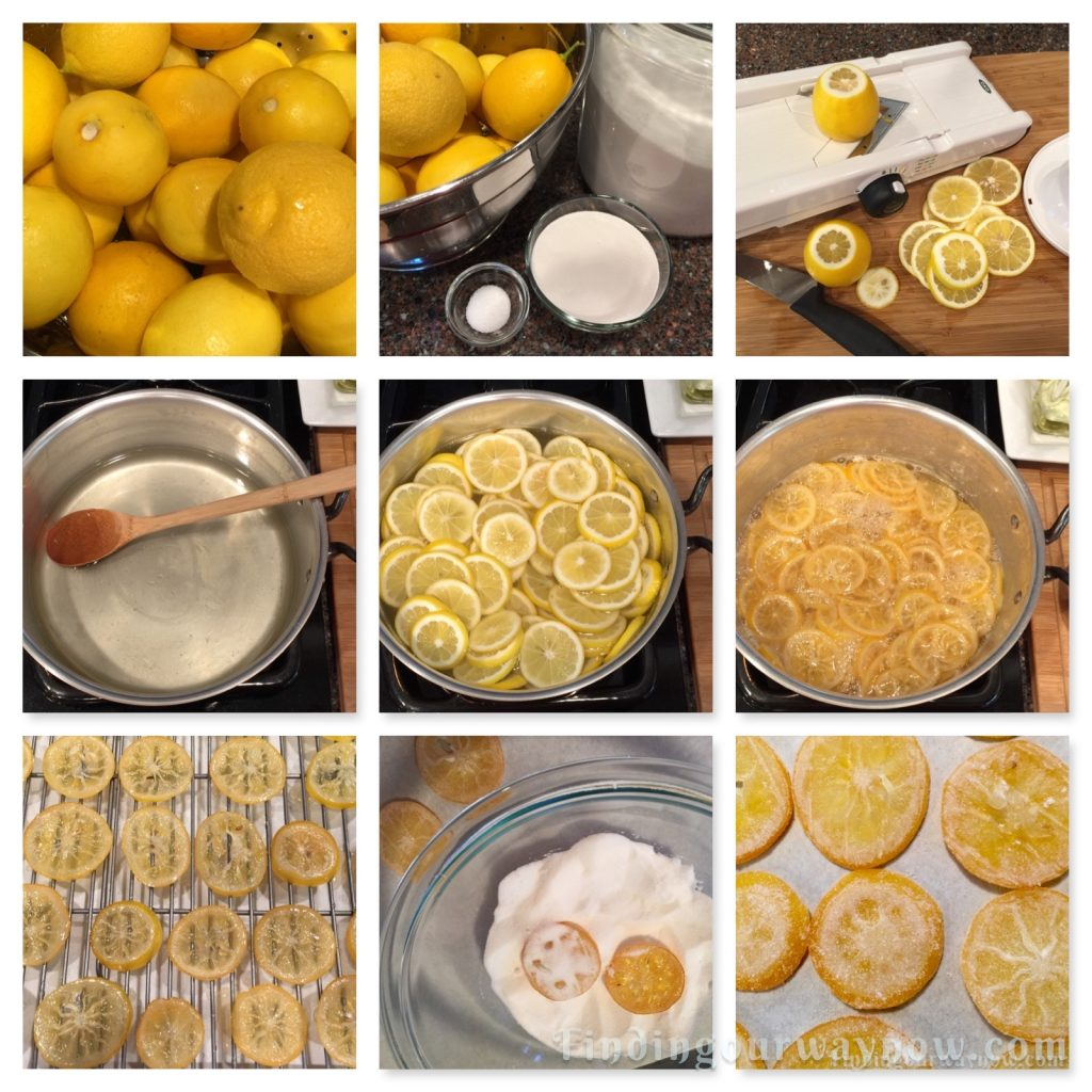 Candied Lemon Slices, findingourwaynow.com