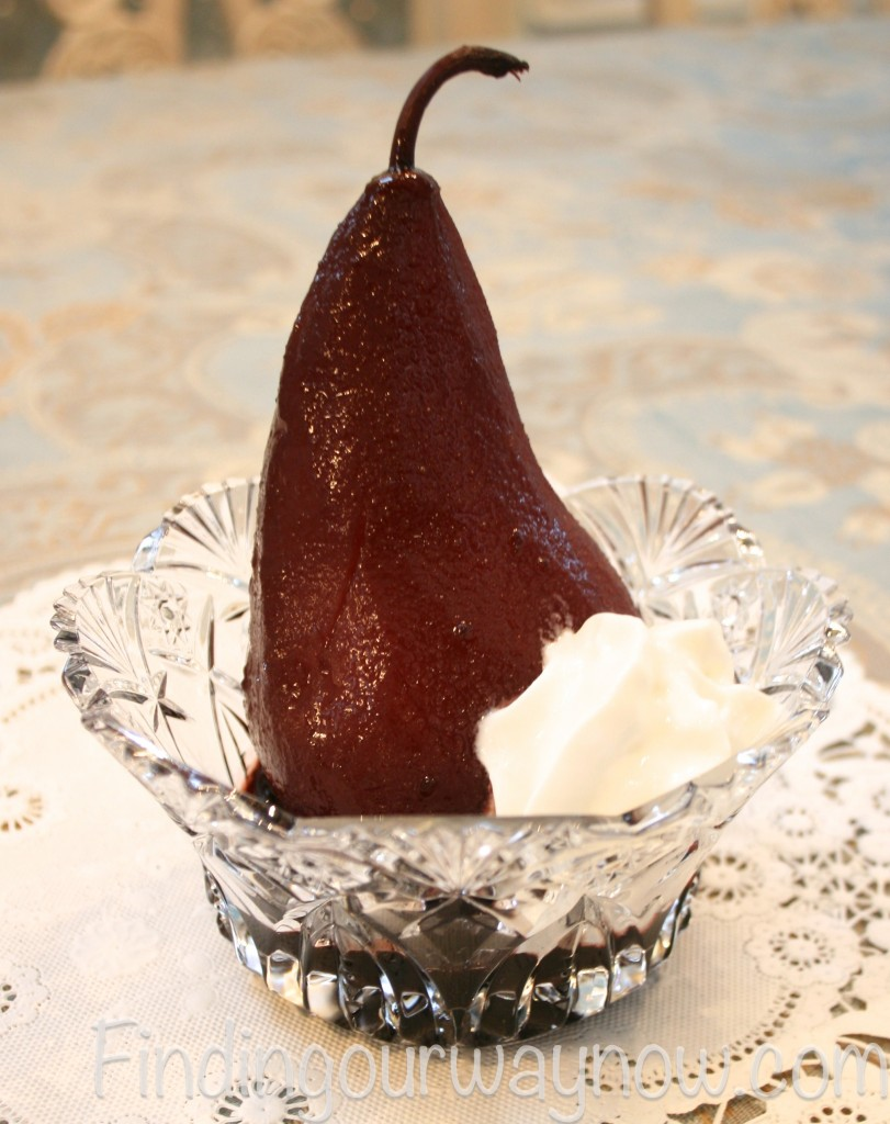 Slow-Baked Honey Wine Pears, findingourwaynow.com