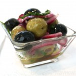 Marinated Garlic Olives, findingourwaynow.com