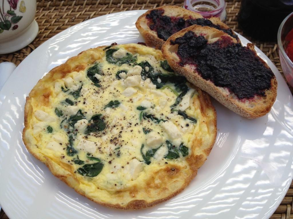 Spinach and Feta Cheese Frittata, Findinogourwaynow.com