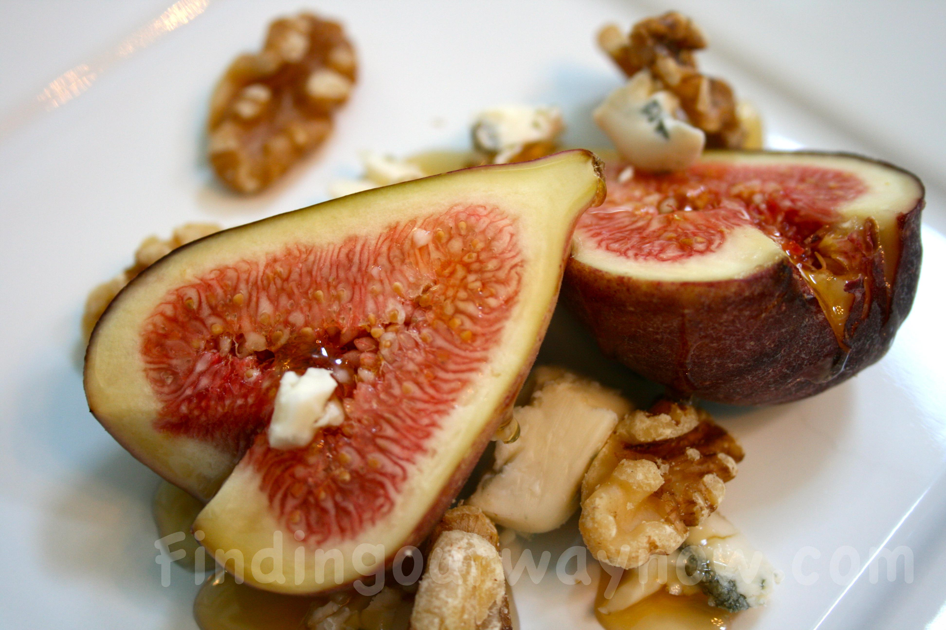 Fresh Figs and Honey Dessert, findingourwaynow.com