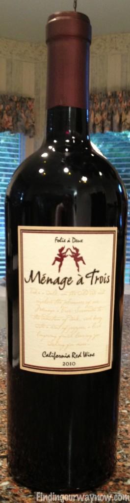 Ménage à Trois Red Wine, findingourwaynow.com