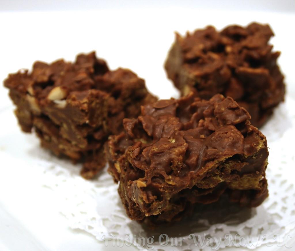 Crispy Chocolate Bars, findingourwaynow.com