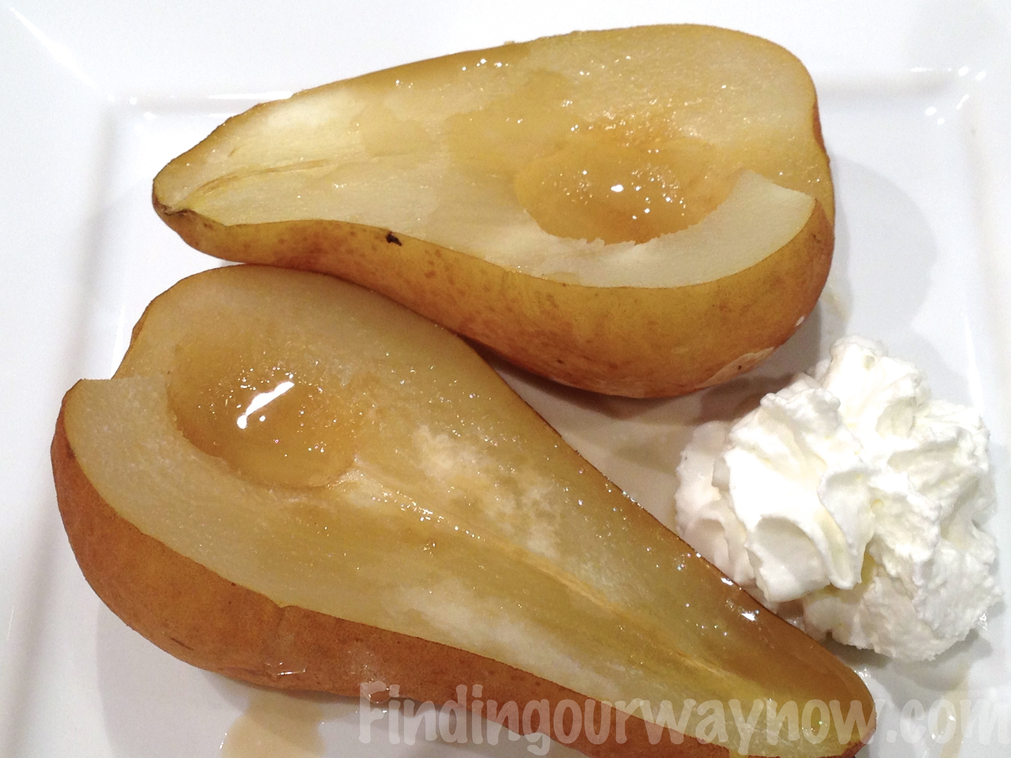 Baked Pears In The Microwave Recipe Finding Our Way Now