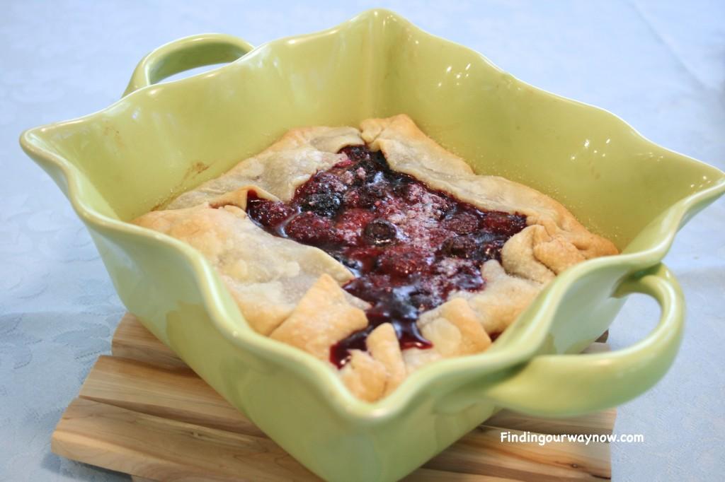 Rustic Mixed Berry Tart, findingourwaynow.com