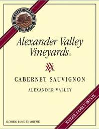 Alexander Valley Vineyards Cabernet Sauvignon Label
