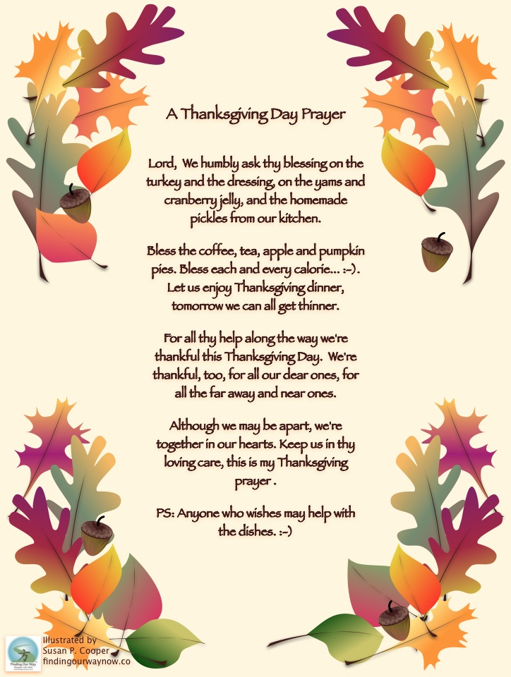 Thanksgiving Day Prayer, findingourwaynow.com