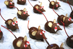 Chocolate Cherry Mice Candy, findingourwaynow.com