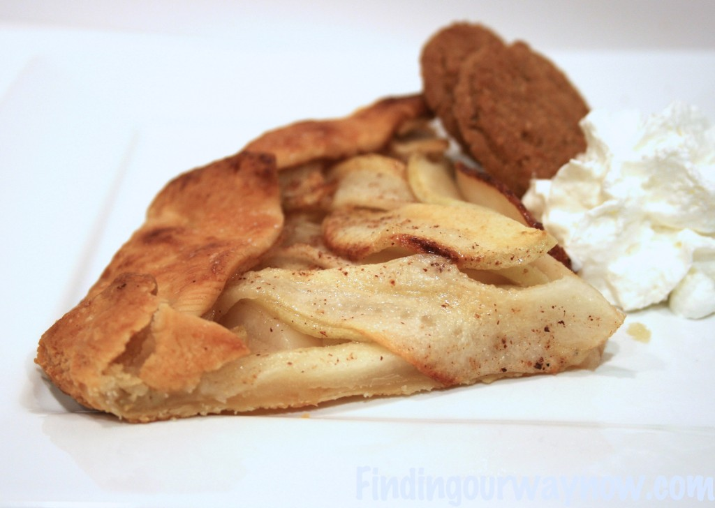 Rustic Apple Pear Tart, findingourwaynow.com